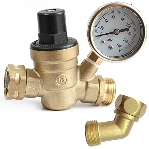 water pressure regulator w 45 garden hose elbow value pack 3 4 in x 3 4 in. Black Bedroom Furniture Sets. Home Design Ideas